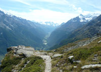 Haute Route view of valley