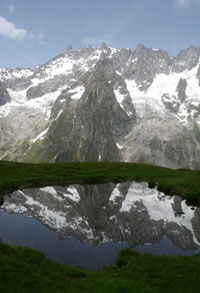 Reflections  of Mont Blanc